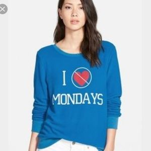 Wildfox I Hate Mondays Pullover Size Small